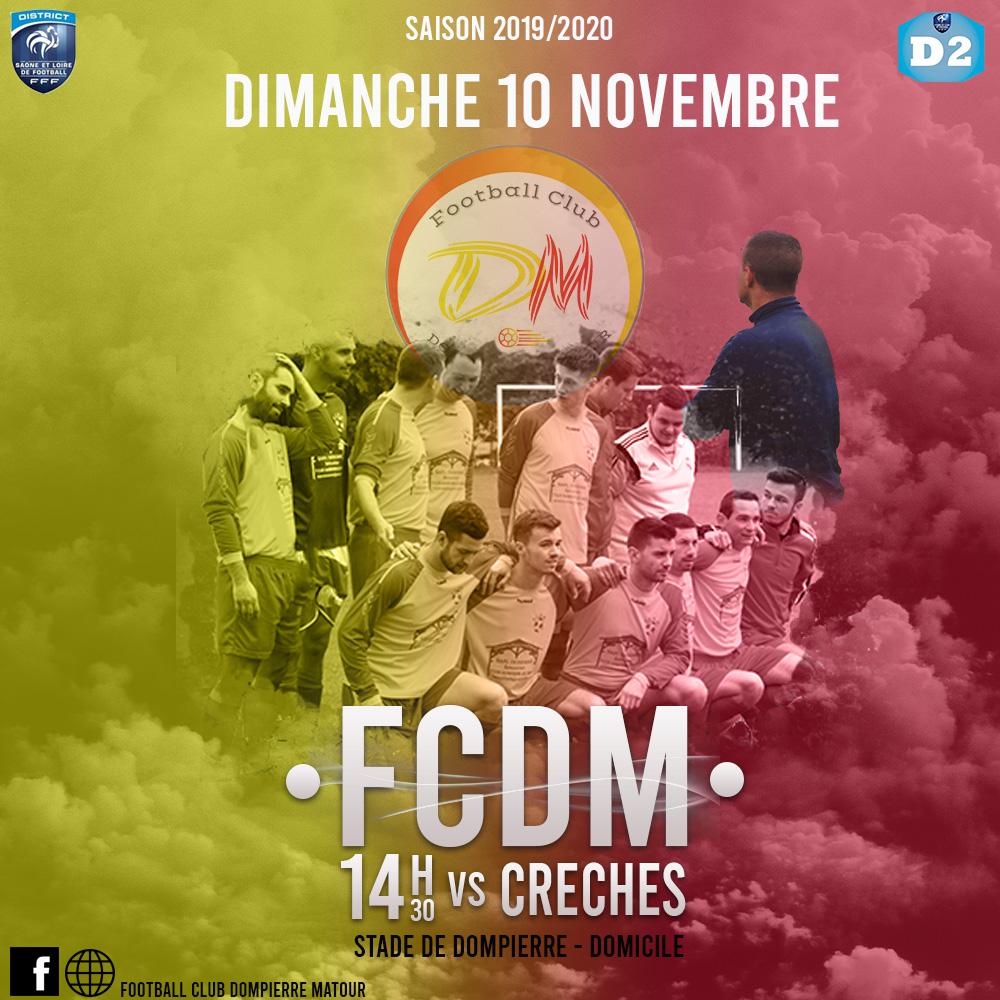 Affiche FCDM vs Crèches