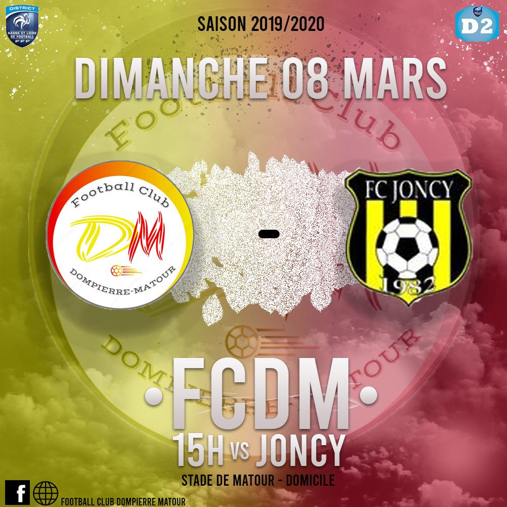 FCDM contre Joncy à Matour, match à voir !