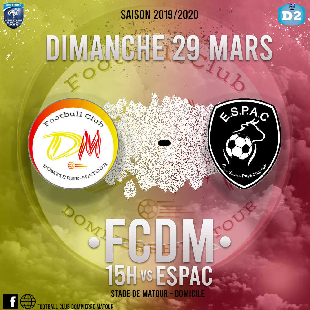 FCDM contre ESPAC à Matour