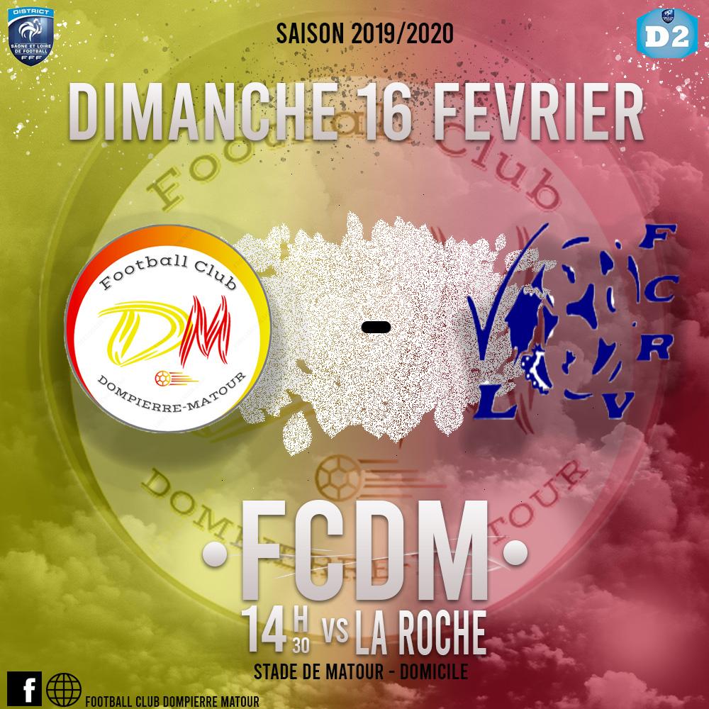 Match FCDM contre La Roche le 16 février