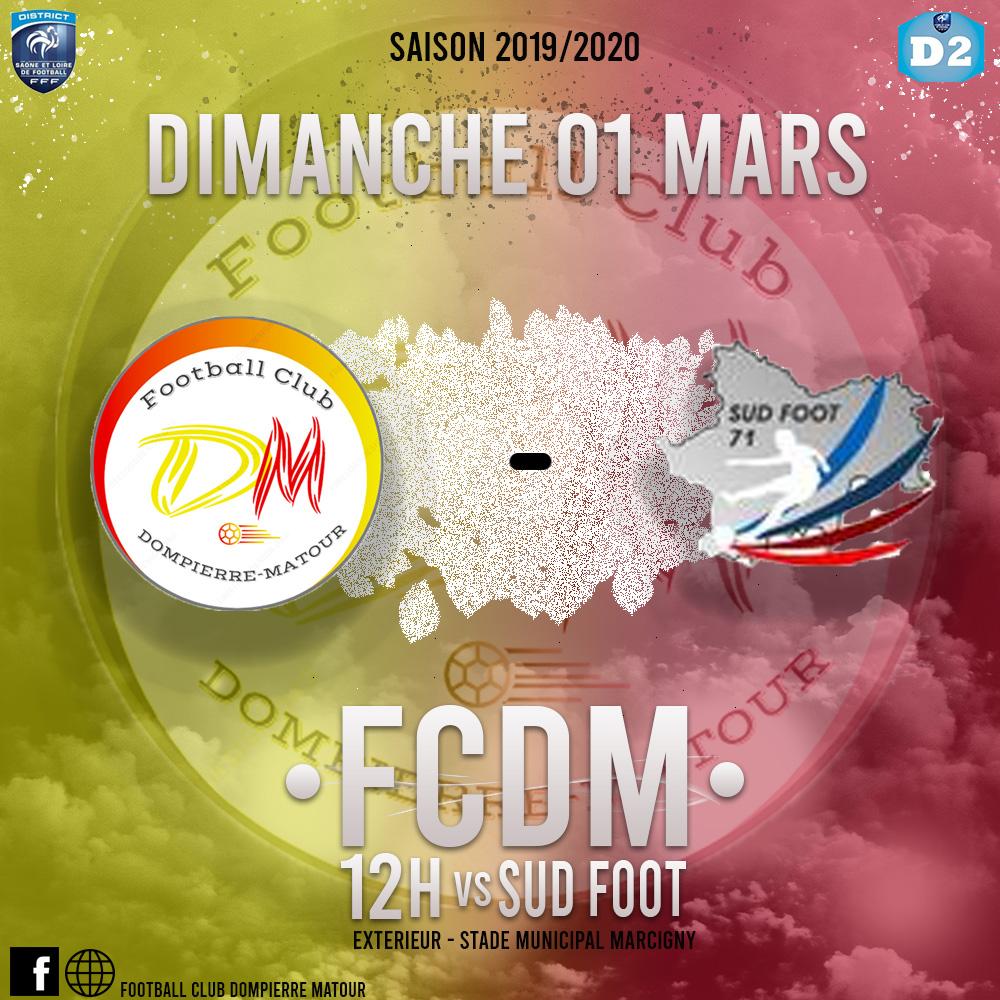 FCDM contre Sud Foot B à Marcigny