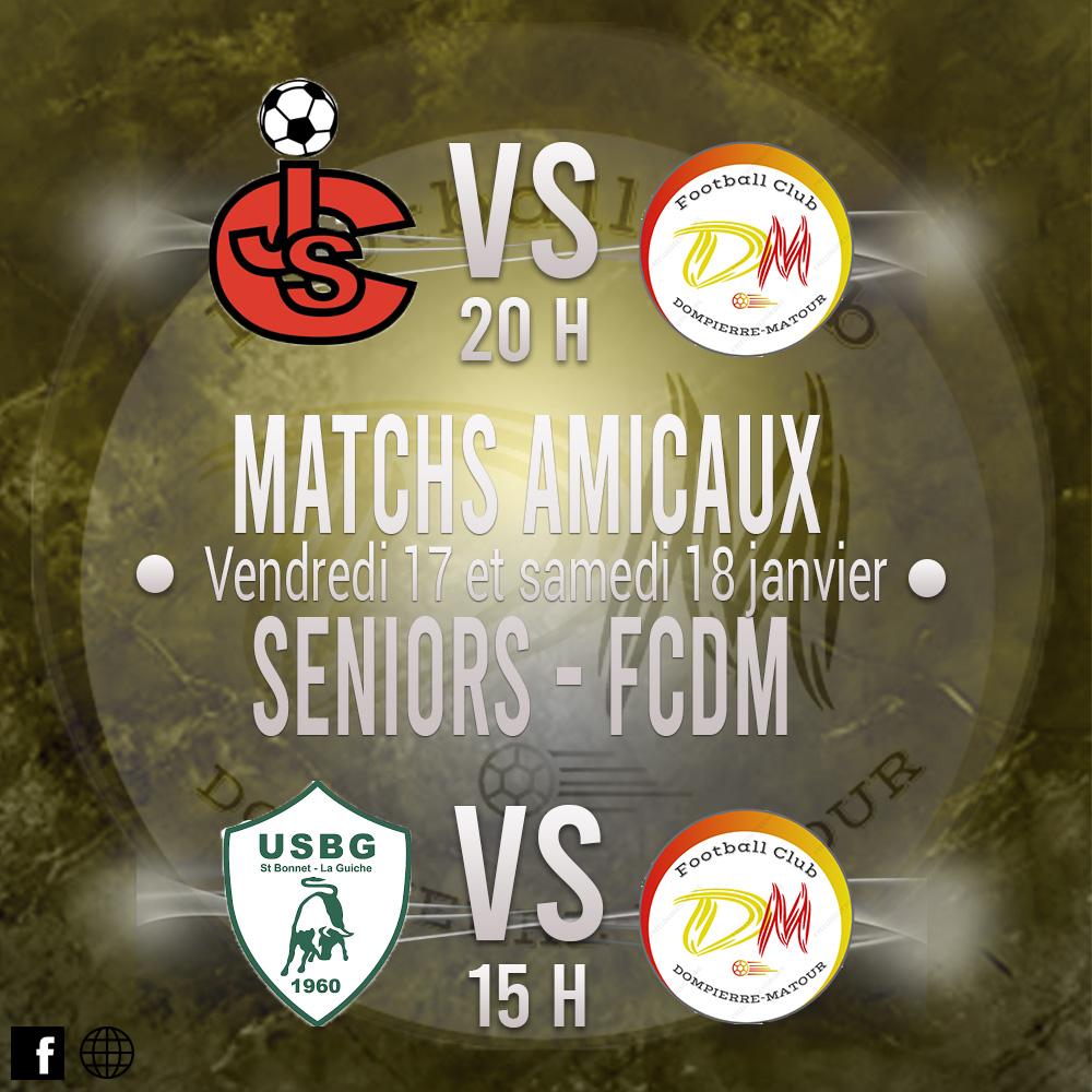 Matchs amicaux du FCDM