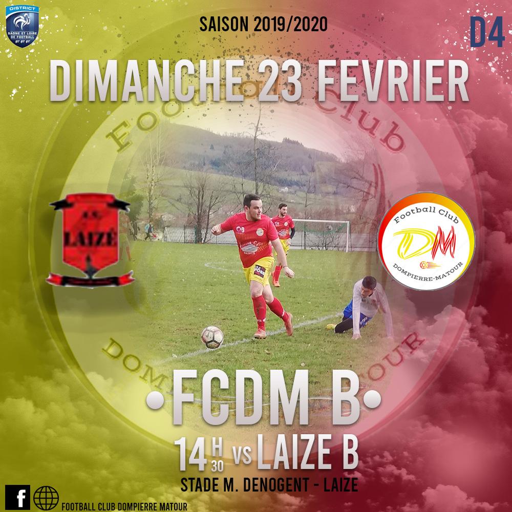 Laizé B – FCDM B : unique match au programme