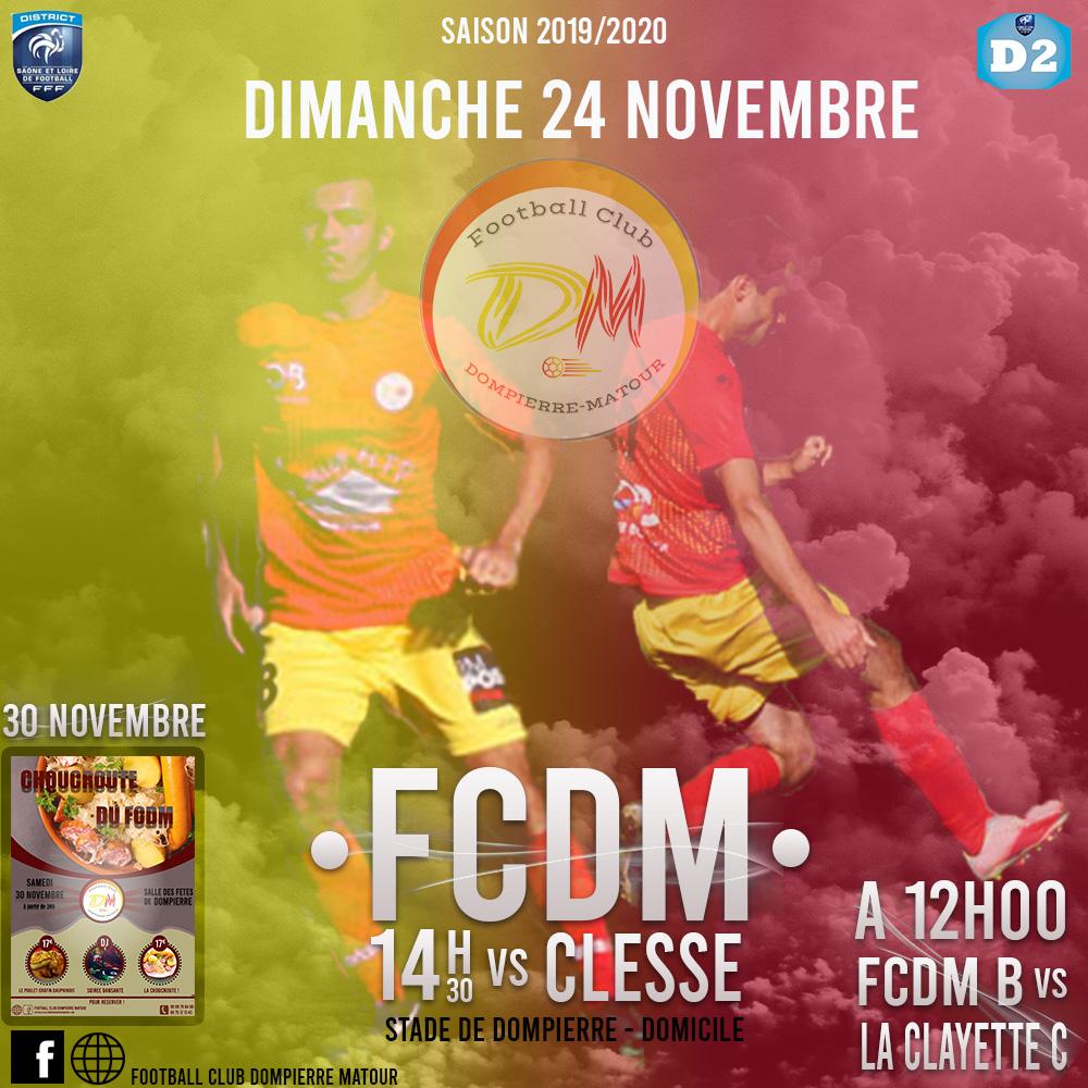 L'agenda du week-end du FCDM