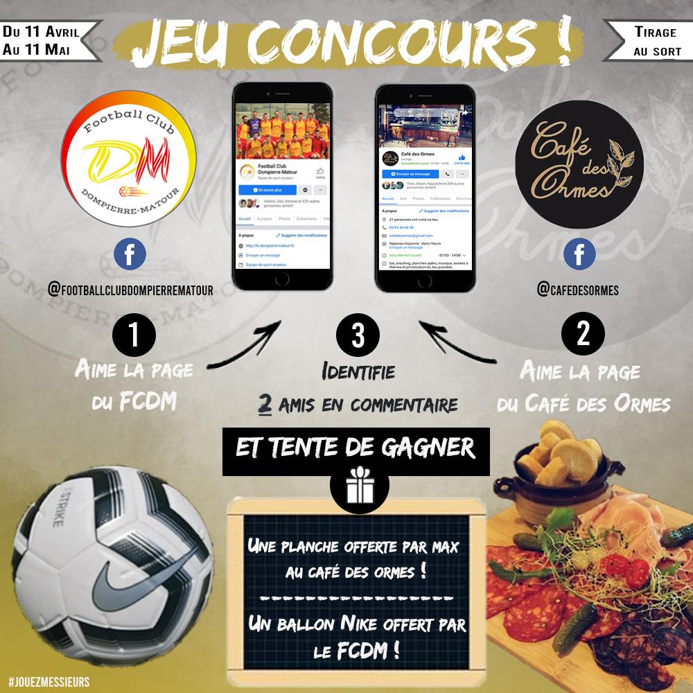 Participez au concours Facebook FCDM – Café des Ormes