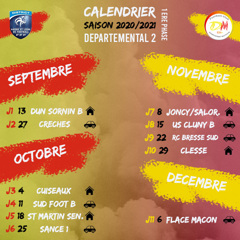 District 71 Calendrier FCDM