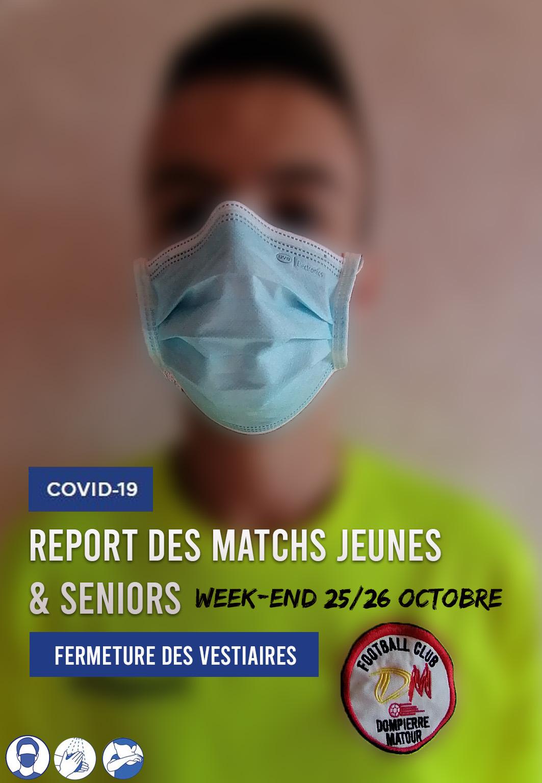 Rencontres jeunes et seniors reportées / District 71-Covid 19
